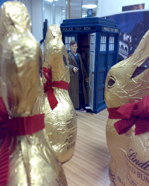 Dr Who vs the Lindt Bunnies