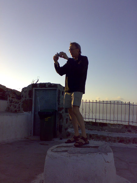 Our man in Oia!!!